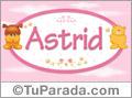 Nombre para bebé, Astrid
