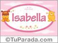 Nombre para bebé, Isabella