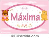 Máxima - Nombre para bebé