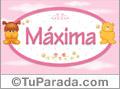 Nombre para bebé, Máxima