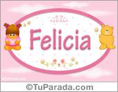 Felicia - Nombre para bebé