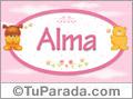 Nombre para bebé, Alma