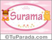 Surama - Nombre para bebé