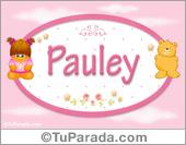 Pauley - Nombre para bebé