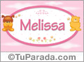 Nombre para bebé, Melissa