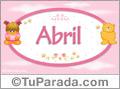 Abril - Nombre para bebé
