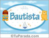 Bautista - Nombre para bebé