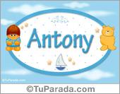 Antony - Nombre para bebé