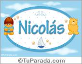 Nicolás - Nombre para bebé