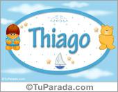 Thiago - Nombre para bebé