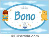 Bono - Nombre para bebé