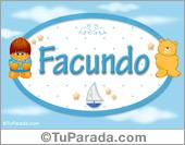 Nombre para bebé, Facundo