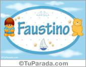Faustino - Nombre para bebé
