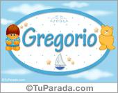 Nombre para bebé, Gregorio