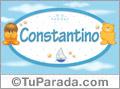 Nombre para bebé, Constantino