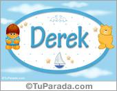 Nombre para bebé, Derek.