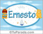 Nombre para bebé, Ernesto.