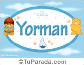 Yorman - Nombre para bebé