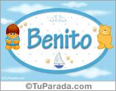 Nombre para bebé, Benito