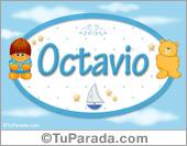 Nombre para bebé, Octavio