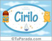 Nombre para bebé, Cirilo