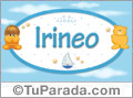 Nombre para bebé, Irineo
