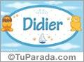 Nombre para bebé, Didier