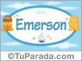 Nombre para bebé, Emerson