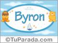 Nombre para bebé, Byron