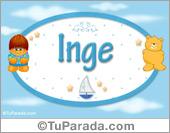 Inge - Nombre para bebé