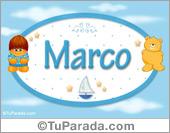 Marco - Nombre para bebé