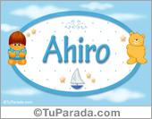 Ahiro - Nombre para bebé
