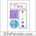 Tiara - Carteles e iniciales