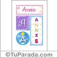 Annie - Carteles e iniciales