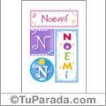 Noemi - Carteles e iniciales