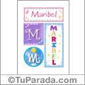 Maribel - Carteles e iniciales