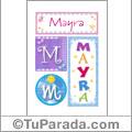 Mayra - Carteles e iniciales