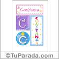 Constanza - Carteles e iniciales