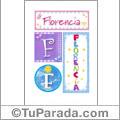 Florencia - Carteles e iniciales