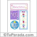 María Esther - Carteles e iniciales