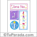 Jaroa Noa - Carteles e iniciales