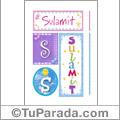 Sulamit - Carteles e iniciales