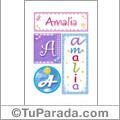 Amalia - Carteles e iniciales