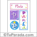 Paula - Carteles e iniciales