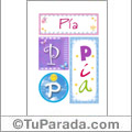 Pia - Carteles e iniciales