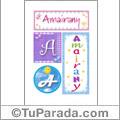 Amairany - Carteles e iniciales