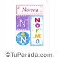 Norma - Carteles e iniciales