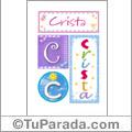 Crista - Carteles e iniciales