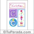 Cristina - Carteles e iniciales