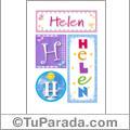 Helen - Carteles e iniciales